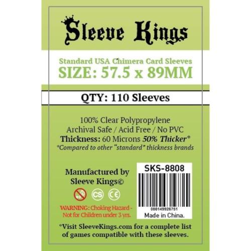 Foto Produk Sleeve Kings Standard USA Chimera Card Sleeves (57.5x89mm) - 110 Pack dari Toko Board Game