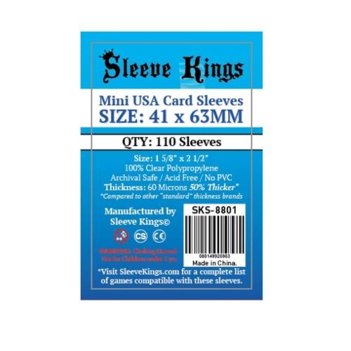 Foto Produk Sleeve Kings Mini USA Card Sleeves (41x63mm) - 110 Pack, -SKS-8801 dari Toko Board Game