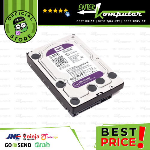 Foto Produk WDC Purple 4TB For CCTV 24 Hours - WD40PURX - Garansi 3 Th dari Enter Komputer Official