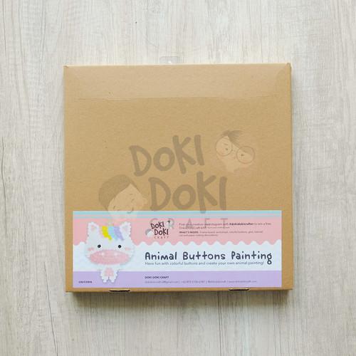 Foto Produk Animal Button Painting Craft Kit - DIY - Unicorn Kerajinan Tangan Anak dari Doki Doki Craft
