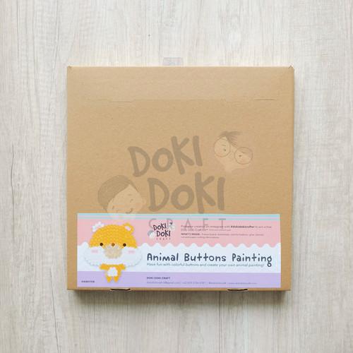 Foto Produk Animal Button Painting Craft Kit - DIY - Hamster Kerajinan Tangan Anak dari Doki Doki Craft