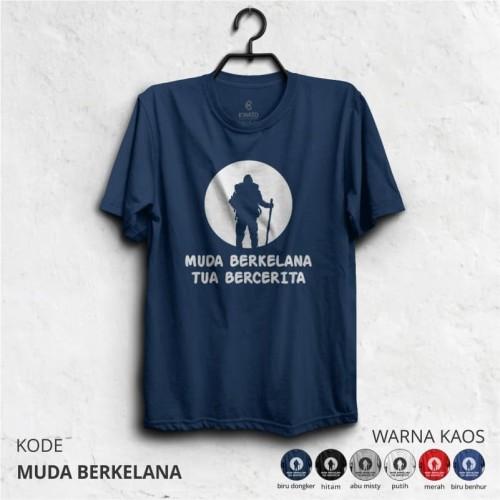 Foto Produk Kaos Pendaki MUDA BERKELANA - Merah, XXL dari adventurecloth