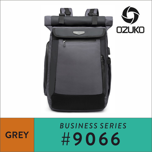 Foto Produk Ozuko Backpack #9066 - Grey dari Ozuko Official Store