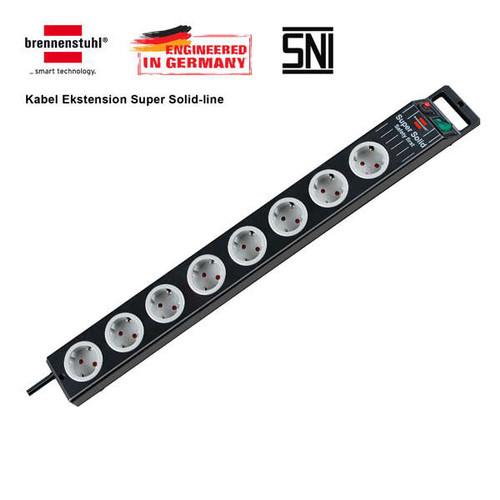 Foto Produk Super-Solid Line socket 8-way black/light grey 2,5m H05VV-F 3G1.5 dari Yezz's Mart