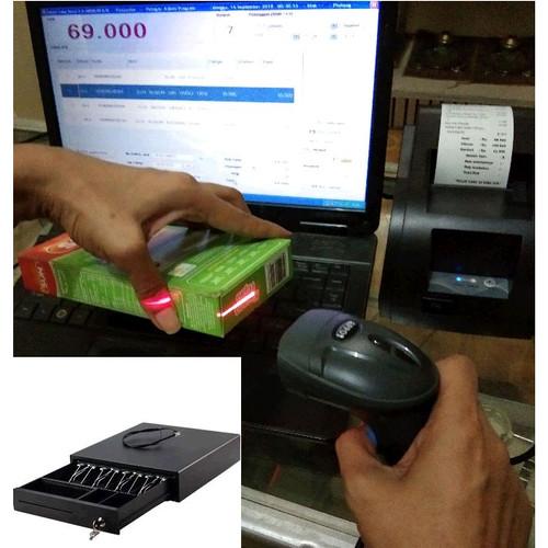 Foto Produk Paket Kasir Hemat Lengkap - Laci + Printer + Scanner + Software dari solusiprogramcom