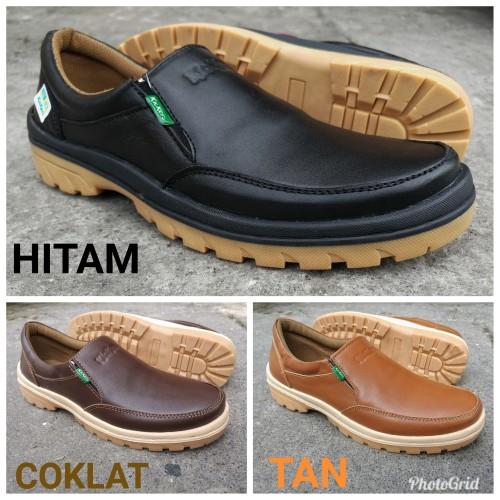 Foto Produk sepatu casual pria slip on bahan kulit asli dari rif&lif store