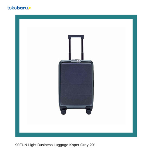 "Foto Produk 90FUN Light Business Luggage Koper Grey 20"" dari Kohen Store"
