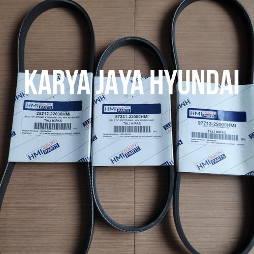 Foto Produk Fan belt set van tali kipas Hyundai Accent Avega asli Fanbelt dari KARYA JAYA HYUNDAI