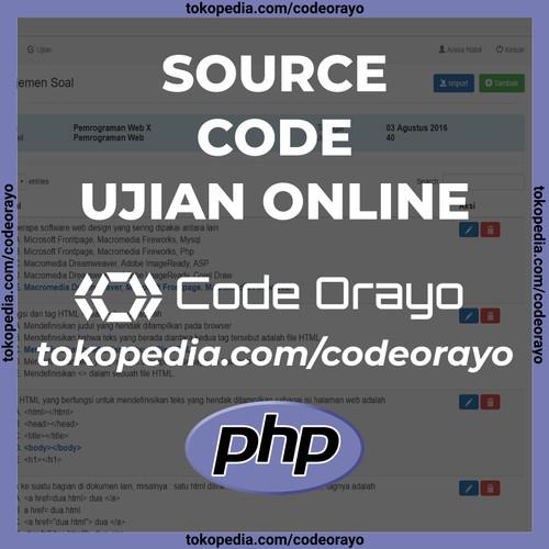 Foto Produk Source Code Aplikasi Ujian Online Full Ajax PHP dari Code Orayo