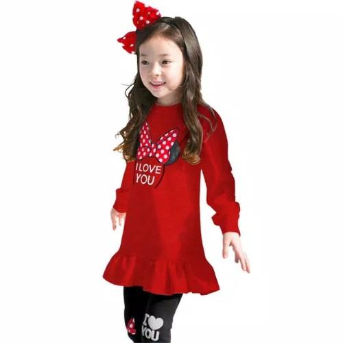 Foto Produk setelan lengan panjang dan legging minnie 3-8thn anak perempuan import dari Mr.Gabor