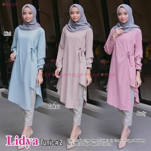 Foto Produk baju wanita atasan lidya tunik muslim remaja dewasa trendi modis top dari yukika.id