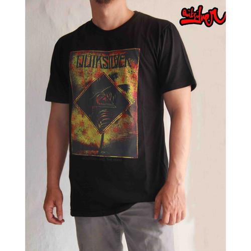 Foto Produk Baju Kaos Tshirt DIstro Surfing Quiksilver Black 26 - Hitam, L dari Kaos_goban