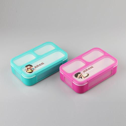 Foto Produk 606 Lunch Box Kotak Makan Yooyee bento kotak bekal untuk anak-anak - biru dari laris_88 computer