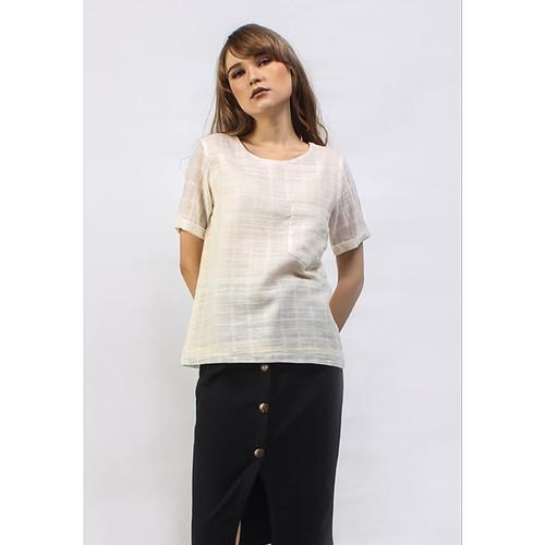 Foto Produk Veyl Store Elsie Atasan Wanita Warna Cream - Size S dari VEYL Store