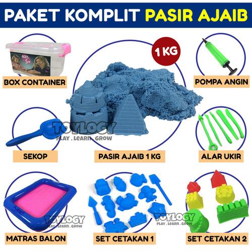Foto Produk Mainan Anak Paket Hemat KOMPLIT Pasir Ajaib Kinetik 1kg Box Mini dari Toylogy