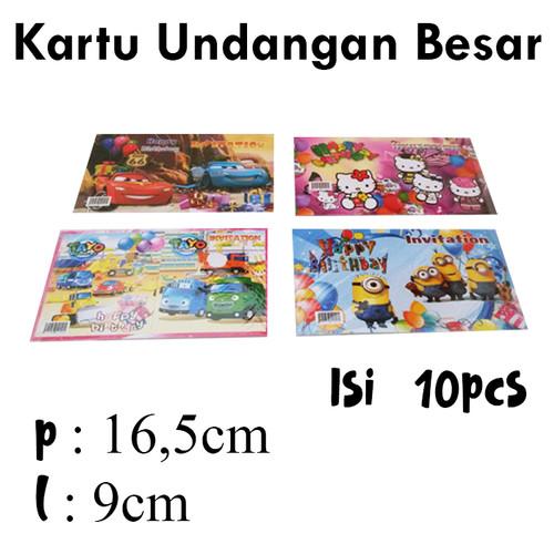 Foto Produk Kartu Undangan Ulang Tahun/Kartu Undangan Ultah Anak/Kartu Ultah Besar dari MarketPlastik