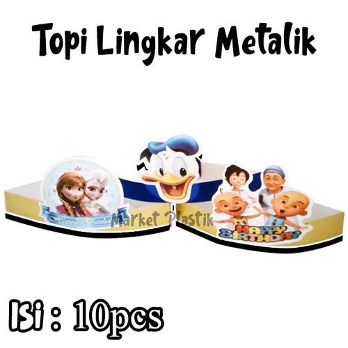Foto Produk Topi Ulang Tahun/Topi Party/Topi Ultah/Topi Kertas Kartun/Topi Metalik dari MarketPlastik