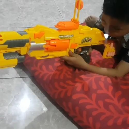 Foto Produk Nerf asli murah semi auto 7006 sniper pistol tembakan peluru busa soft dari aneka barang murah 2