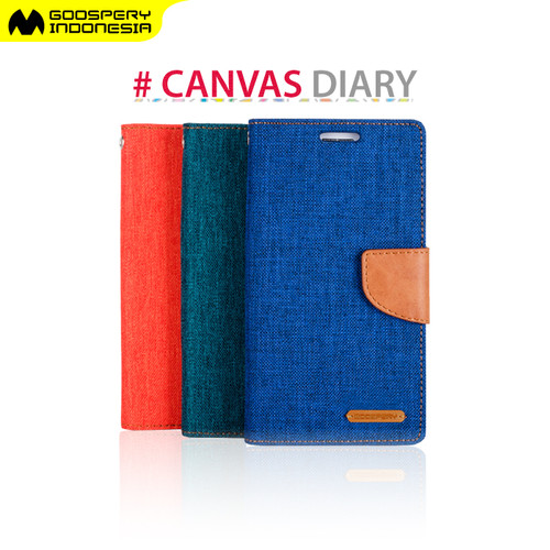 Foto Produk GOOSPERY SONY Xperia Z4 E6533 Canvas Diary Case - Blue dari Goospery Indonesia