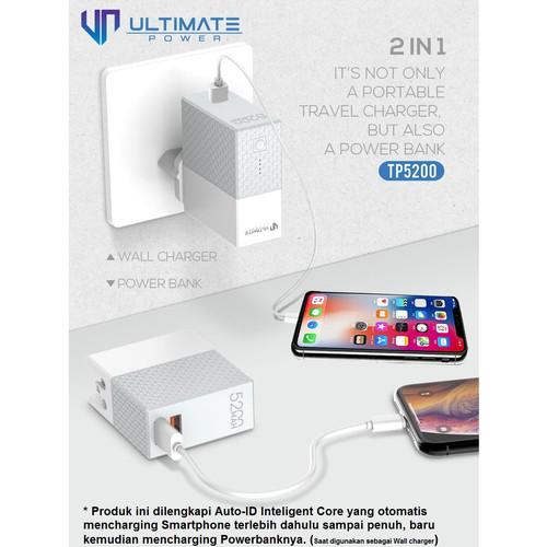 Foto Produk Ultimate Power TP5200 2in1 Power Bank + Charger 5200mAh dari Ultimate Power Official
