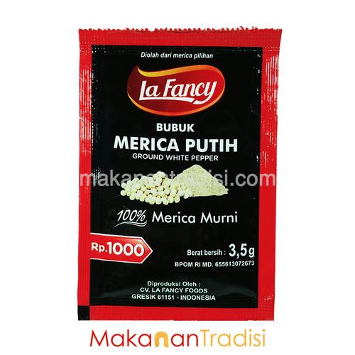 Foto Produk Merica Putih Bubuk/ Lada Putih La Fancy/ 100% Merica Murni 3,5 gr dari Makanan Tradisi Id