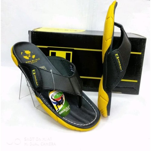 Foto Produk sandal kulit gaul pakalolo N 2329 black yellow.original dan new stock dari artatikashop