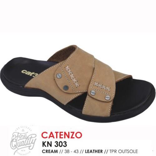 Foto Produk Sendal KULIT Pria KN 303 Distro Catenzo Bandung sandal casual cowok ke dari artatikashop