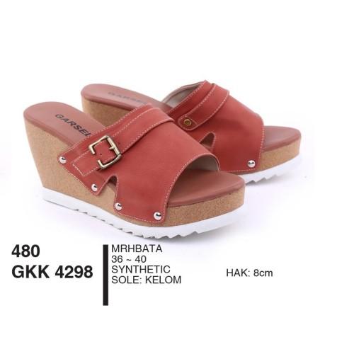 Foto Produk Sandal Wanita Dewasa Wedges Synthetic Merah Bata By Garsel Footwear - dari artatikashop