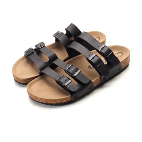 Foto Produk VOLAR FUN BLACK - Sandal Jepit Kulit Casual Sendal Kasual Pria Cowok - dari artatikashop