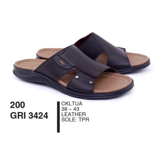 Foto Produk Sandal Pria Dewasa Selop Leather Cokelat Tua By Garsel Footwear - GRI dari artatikashop
