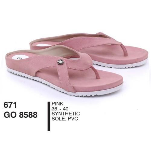 Foto Produk Sandal Wanita Dewasa Jepit Synthetic Pink By Garsel Footwear - GO 8588 dari artatikashop