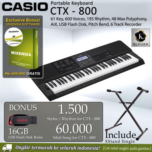 Foto Produk Keyboard Casio CTX-800 + Stand / CT-X800 / CTX800 spek setara psr e463 dari Gerai Klasika