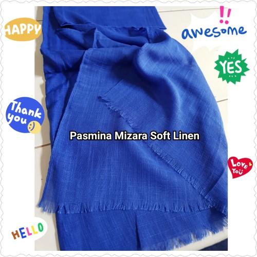 Foto Produk Pasmina Mizara Soft Linen Pashmina Hijab Jilbab Halus Scarf Kerudung dari Kampung Kerudung