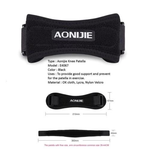 Foto Produk New Aonijie E4067 Knee Protector Patella Band - Pelindung Lutut Deker dari Yunasri shop