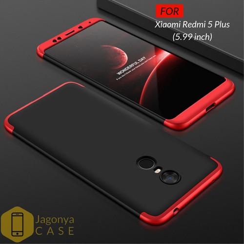 Foto Produk Case Xioami Redmi 5 Plus Hardcase Original GKK 360 Full Protective - FULL HITAM dari Jagonya Case