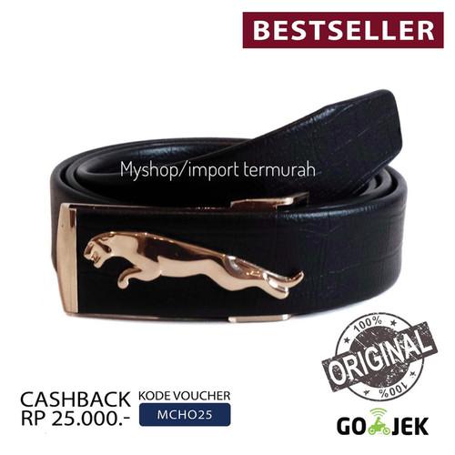 Foto Produk Gesper Ikat Pinggang Kulit Pria Cowo Import Jag 49 Gold dari Toko Import Termurah