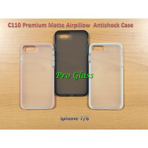 Foto Produk C110 Iphone 7 / 8 Premium Matte Air Pillow Antishock Silicone Case dari Pro Glass