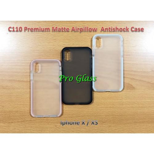 Foto Produk C110 Iphone X / XS Premium Matte Air Pillow Antishock Silicone Case dari Pro Glass