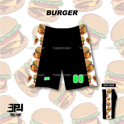 Foto Produk Threepoint Jersey Basket Burger Bawahan Keren dari ThreepointJersey