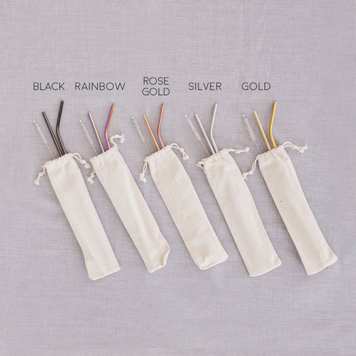 Foto Produk My Eco Friend Reusable Straws Set / Sedotan Stainless Steel / Sedotan dari Pinkabulous