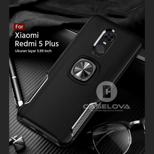 Foto Produk Case Xiaomi Redmi 5 Plus Hardcase Ring Carbon Thunder - Hitam dari Caselova Store