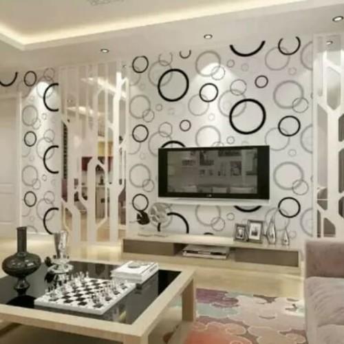 Foto Produk Bubble Black White Wallpaper Dinding 10M x 45Cm dari Grosir Laris