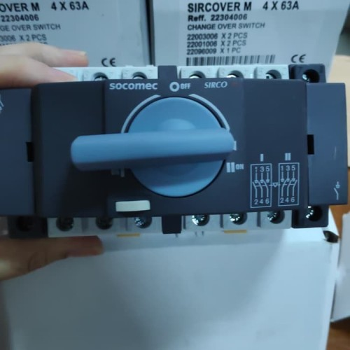 Foto Produk Change Over Switch COS Socomec Sircover M 4P 63A dari JW Electric