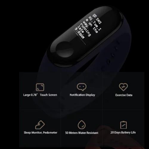 Foto Produk smartwatch Xiaomi band 3 smart bracelet waterproof dari paddking