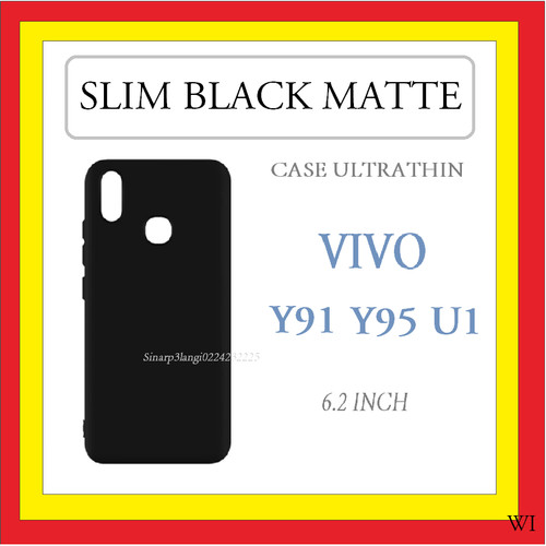 Foto Produk SLIM BLACK MATTE ULTRATHIN CASE TIPIS VIVO Y91 Y95 6.22 INCH 909356 dari regenboog