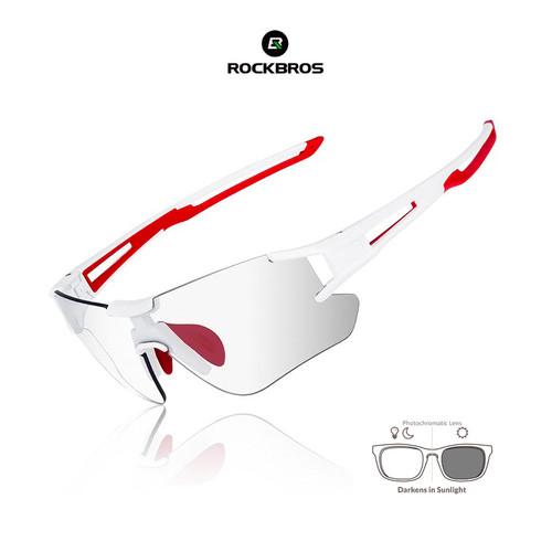 Foto Produk ROCKBROS 10126 Photochromic Sunglasses - kacamata Sepeda Lari WHITE dari Rockbros Indonesia