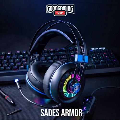 Foto Produk Sades Armor RGB Realtek 7.1 Gaming Headset dari GOODGAMINGM2M