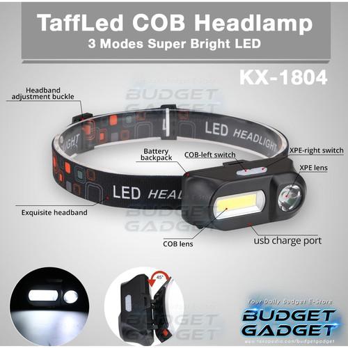 Foto Produk TaffLED Headlamp Flashlight Headlight LED 3 Modes COB - KX-1804 dari BudgetGadget