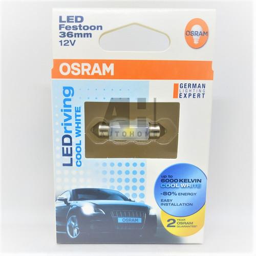 Foto Produk Osram LED Festoon 36mm Ujung Ganda - Lampu Kabin Interior Putih 6436CW dari Auto Home