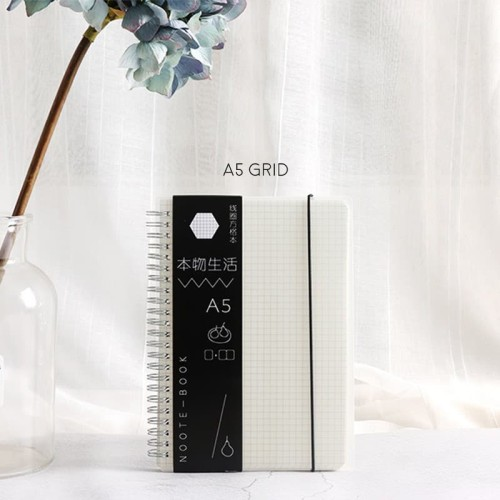 Foto Produk [Ready] ORIGINAL LIFE SPIRAL NOTEBOOK A5 / BUKU TULIS SAMPUL PLASTIK dari King Milenial